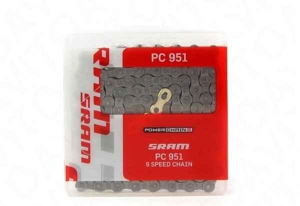 Цепь Sram PC 951 на 9 скоростей с замком