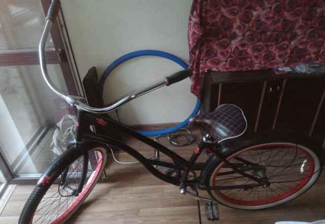 Велосипед круизер haro tradewind (черно-красный) - Фото #1