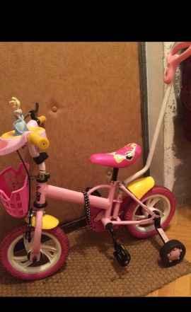 Велосипед с ручкой для девочки - Фото #1