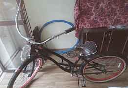 Велосипед круизер haro tradewind (черно-красный)