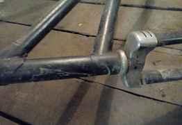 Антикварная Велосипедная рама с большой звездой 27