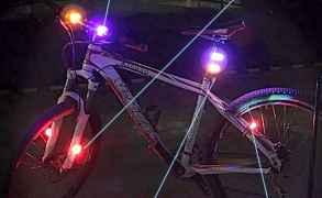 Велосипедный фонарь габарит зеленый