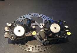 Тормоз дисковый (перед.+зад.) Promax + 2 Ротор 160