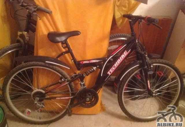 Горный двухподвесный велосипед 24 скорости