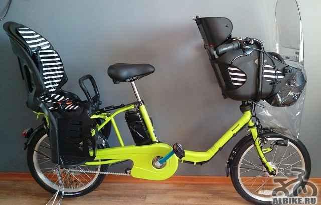 Электровелосипед Panasonic с 2 детскими креслами