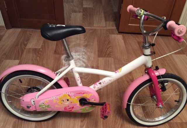 Велосипед для девочки 4-6 лет Btwin