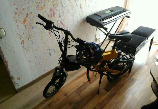 Электровелосипед, складной
