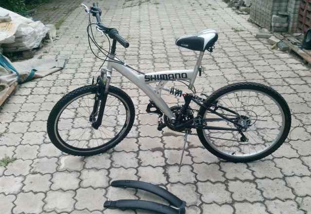 """Велосипед двухподвесный на 24"""" колесах 18 скор"""