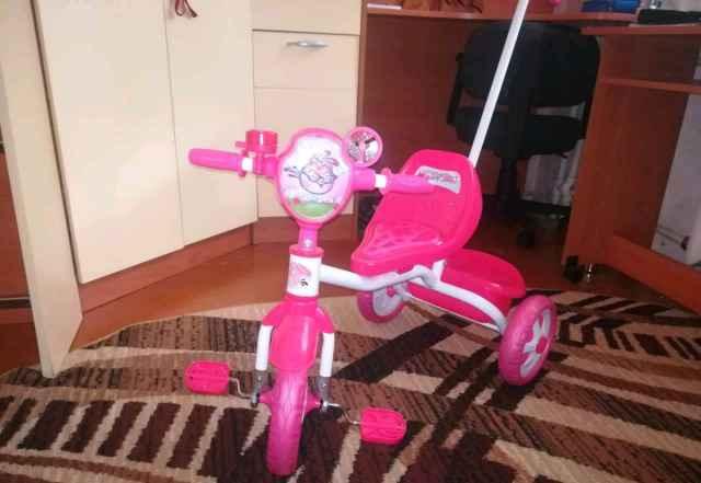 Детский велосипед и машинка-каталка