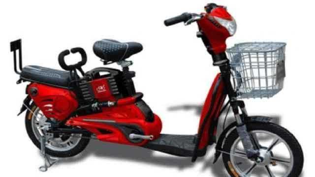 Двухместный электровелосипед (скутер)