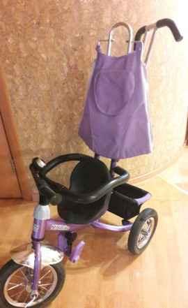 Велосипед трехколесный с родительской ручкой