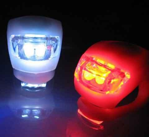 Яркие силиконовые фонари/мигалки для велосипедов