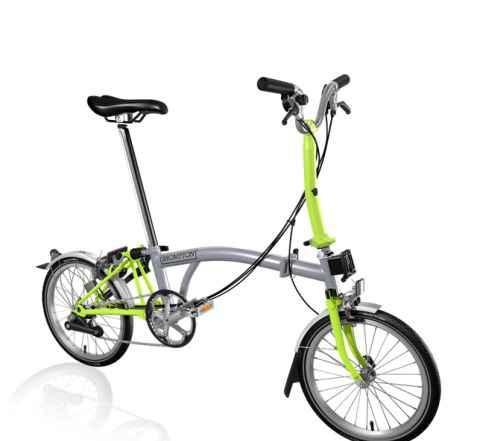 Складной велосипед Brompton M6L Grey/Lime Green