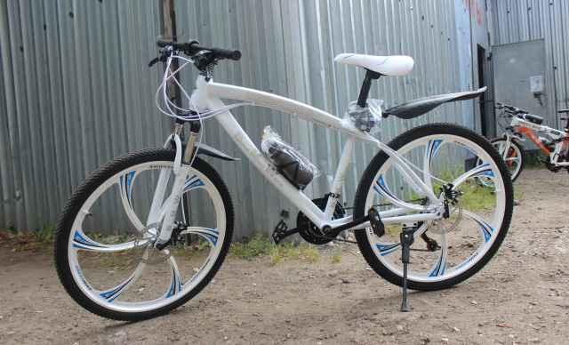 Велосипед бмв, на дисках, 003, белый