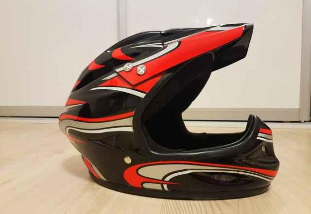 Шлем фулфейс вело мото (размер М)