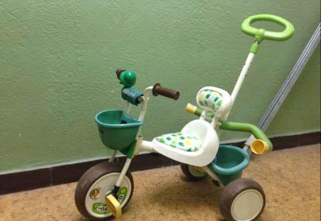 Детский трехколесный велосипед ides nature
