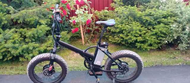 Электровелосипед fatbike складной 1000w