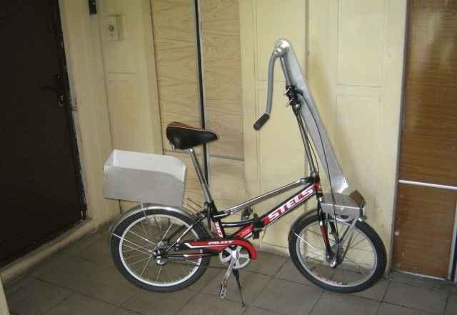 Велосипед с ручным приводом. Мишка