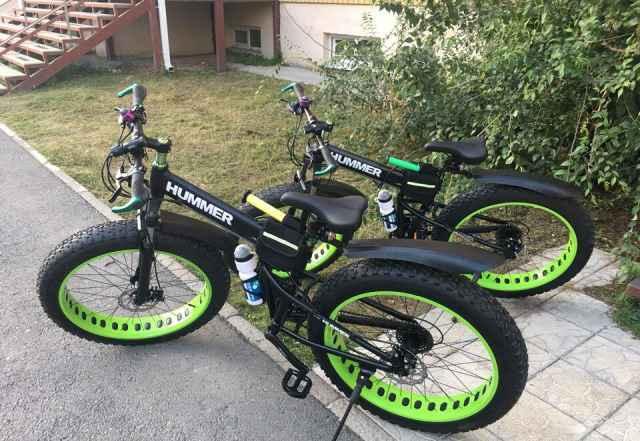 Велосипед фэтбайк hammer на больших колесах
