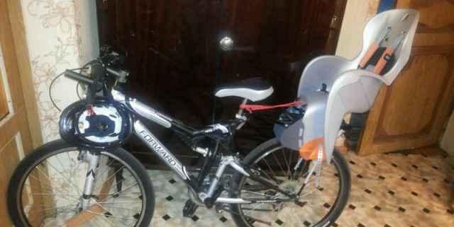 Велосипед форвард с детским креслом