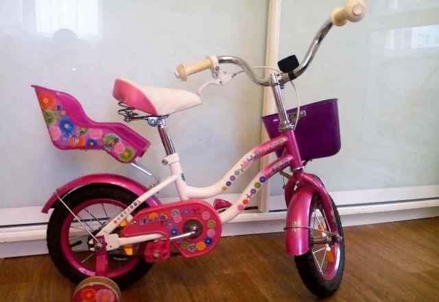 Велосипед для девочки 2-6 лет