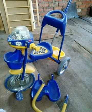 Велосипед детский с музыкой и трактор