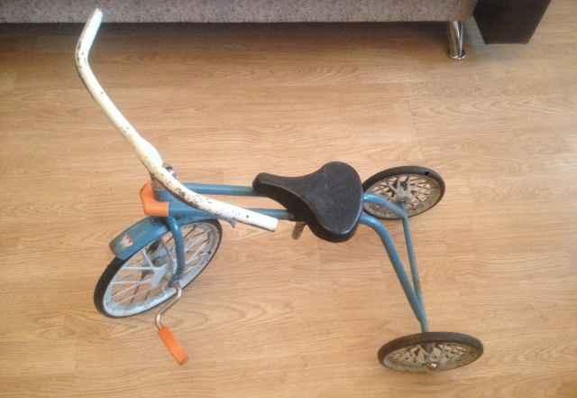 Детский велосипед времен СССР на ходу