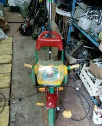 Велосипед детский трость