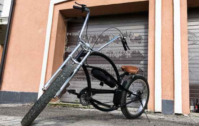 Электро-велосипед боббер/чоппер 48В/12А*ч обмен на