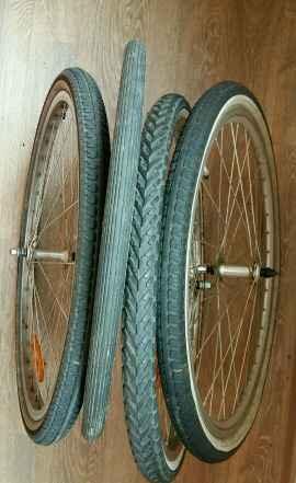 Велосипедные шины, колеса с шинами