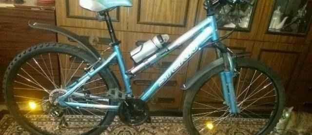 Велосипед амортизационная вилка воздушная алюминев