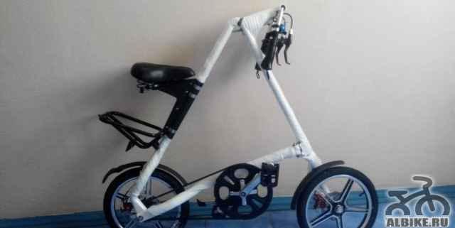 """Новый белый складной велосипед 16"""""""