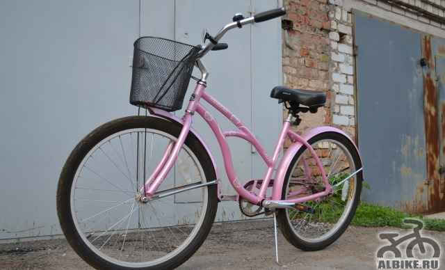 Женский велосипед с сеткой