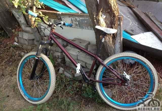 "Cr-mo велосипед для стрита/дерта на 24"" колесах"