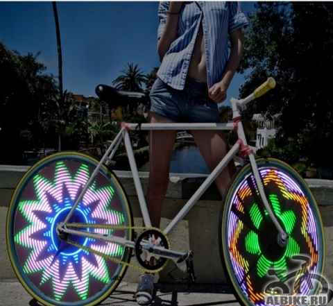 Велосипедная подсветка на колеса