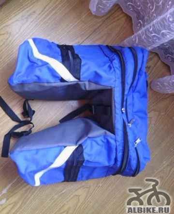 Велорюкзак Course 30-50 л (рюкзак-велоштаны) новый