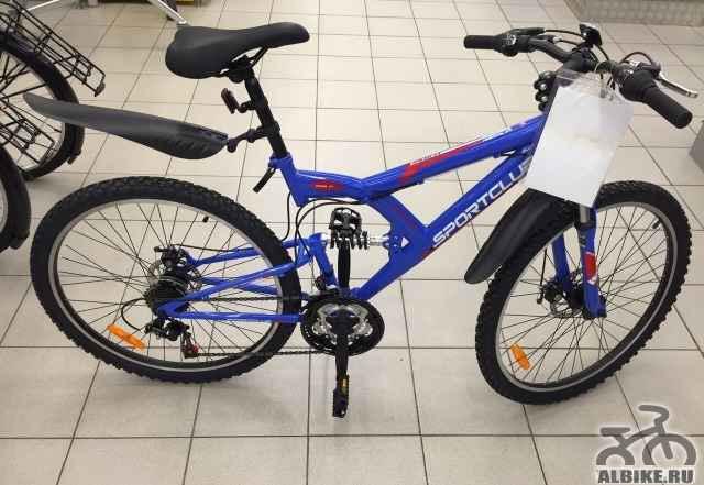Новый горный велосипед дисковый двухподвесной