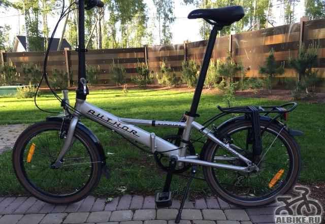Городской велосипед Author. Серебристый