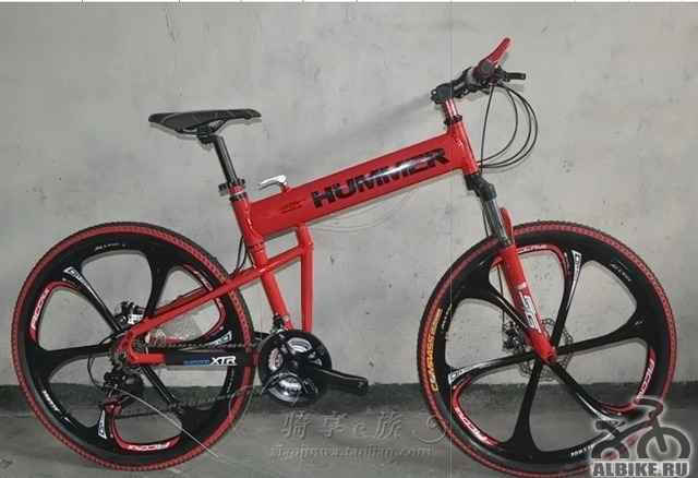 Велосипед хаммер красного цвета на литых дисках