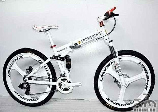 Велосипед на литых дисках Порше цвет белый