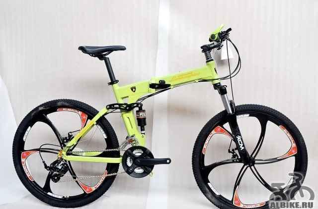 Велосипед на литых дисках Ламборгини (зеленый)
