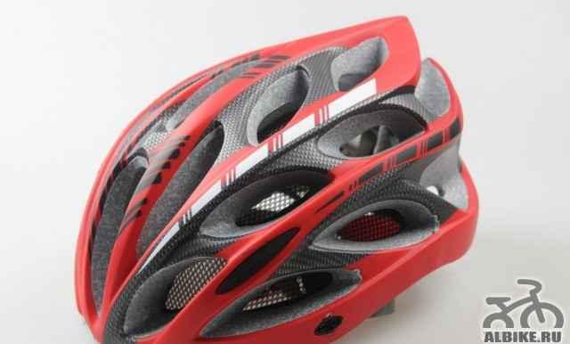 Велошлем, Шлем велосипедный, красный, 59-64, новый