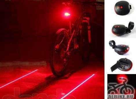 Лазерный задний фонарь для велосипеда, новый
