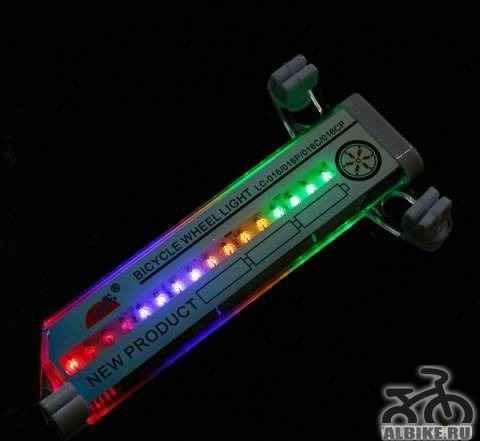 Светодиодная подсветка на колёса велосипеда LED