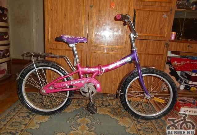 Велосипед подростковый складной с насосом