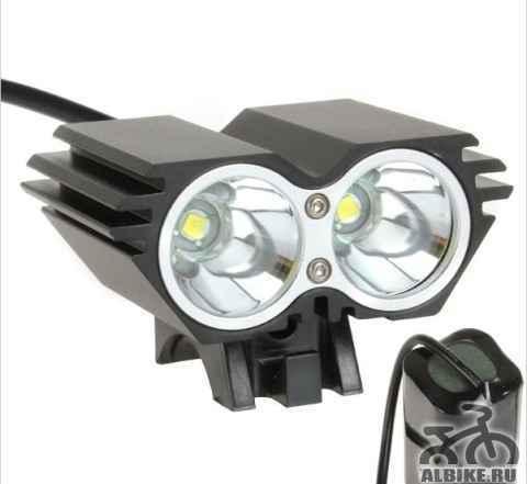 Велосипедная фара (фонарь) с аккумулятором