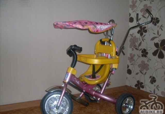 Велосипед детский, трехколесный с ручкой