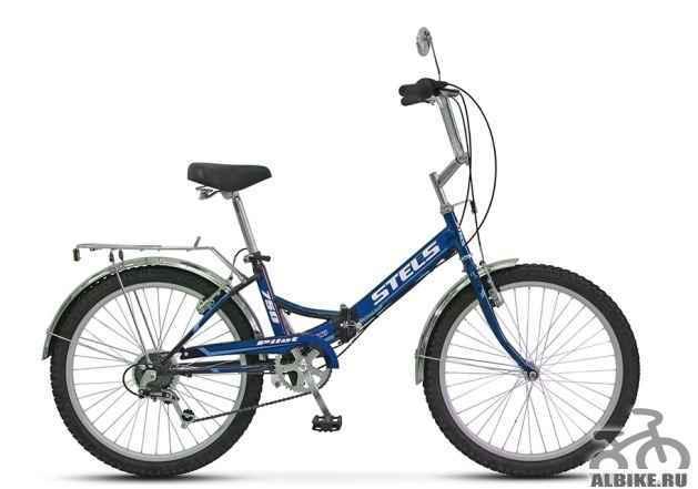 Велосипед стелс Пилот 750 (2015) синий складной