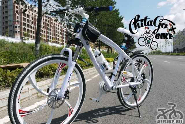 Велосипед БМВ белый