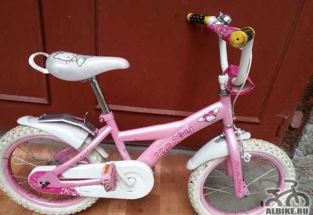 Детский велосипед hello kitty